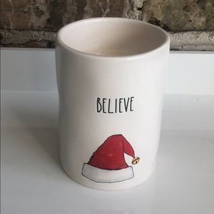 Rae Dunn Believe Santa Sugar Cookie Candle NEW